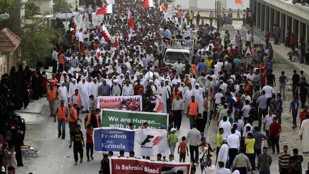 Anti-F1 protests in Bahrain
