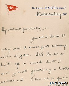 Wallace Hartley&#039;s letter
