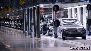 Mercedes production line