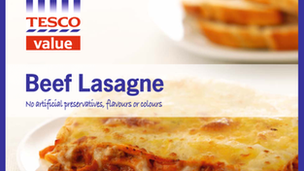 beef Lasagne Tesco value pack