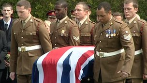 Funeral of L/Cpl Michael Foley