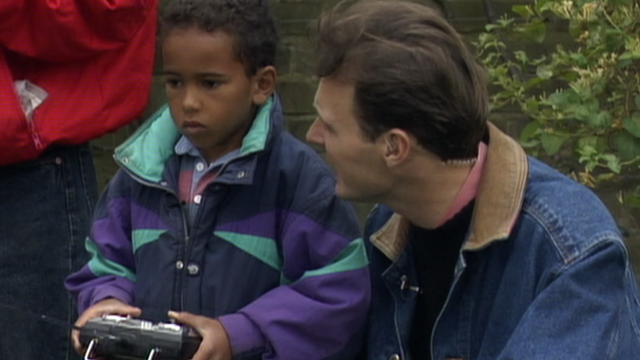A young Lewis Hamilton appears on Blue Peter