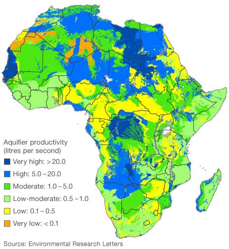 Africa aquifer map
