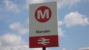 Marsden station in Huddersfield