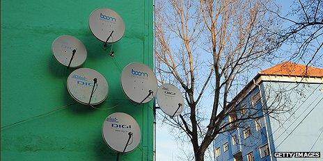 Satellite aerials in Romania