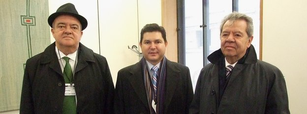 Eric Luis Rubio Barthell, Nicolas Bellizia Aboaf and Porfirio Munoz Ledo 