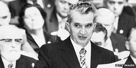Romanian leader Nicolae Ceausescu