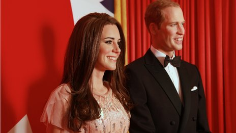 The Duke and Duchess of Cambridge waxworks