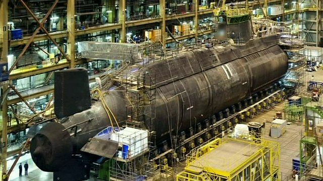 HMS Ambush under construction