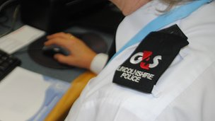 G4S and police epaulette