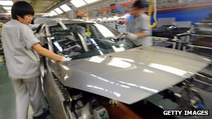 Dongfeng Peugeot Citroen Automobile assembly plant in Wuhan, central China's Hubei province