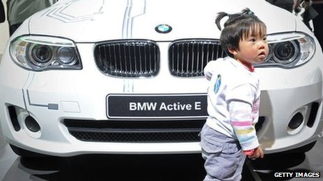 Chinese child with a BMW