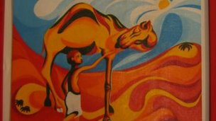 Painting of camel