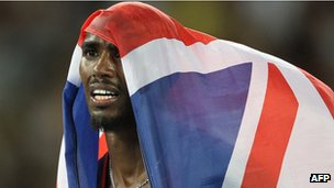 Mo Farah was born in Somalia but is now competes for England
