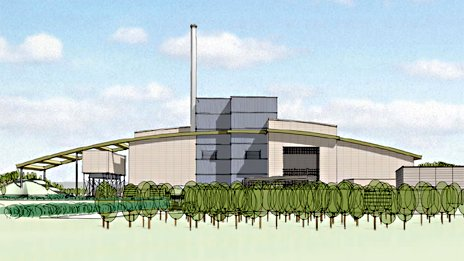 Artists impression of Calvert incinerator