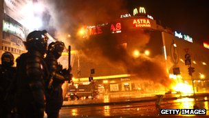 Unrest in Romania over austerity measures