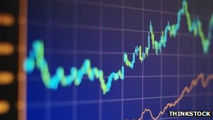 stock photo of trend line of markets