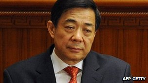 Bo Xilai, photographed in March 2012 at the National People's Congress in Beijing