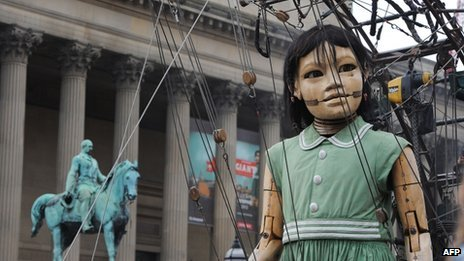 Girl giant in Liverpool