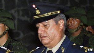File photo of Gen Mario Acosta Chaparro from 2002