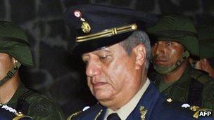 File photo of Gen Mario Acosta Chaparro from 2002