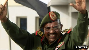 Sudanese President Omar al-Bashir at a victory parade in Khartoum. Photo: 20 April 2012