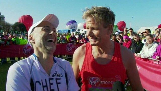 Celebrity chefs Michel Roux Jr and Gordon Ramsay