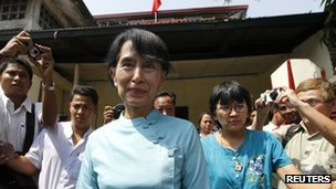 Ms Suu Kyi believes the constitution, which gives the army a central political role, is undemocratic