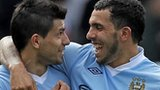 Sergio Aguero and Carlos Tevez start for Manchester City