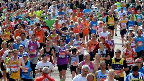 Runners in the London Marathon
