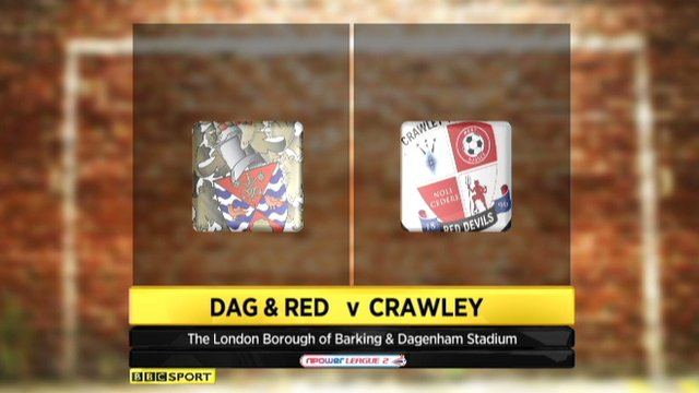 Dag and Red 1-1 Crawley Town