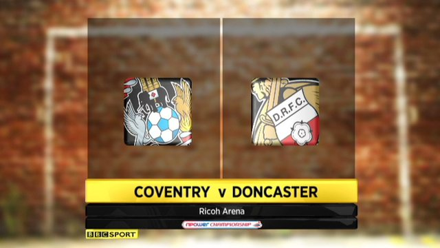 Coventry 0-2 Doncaster