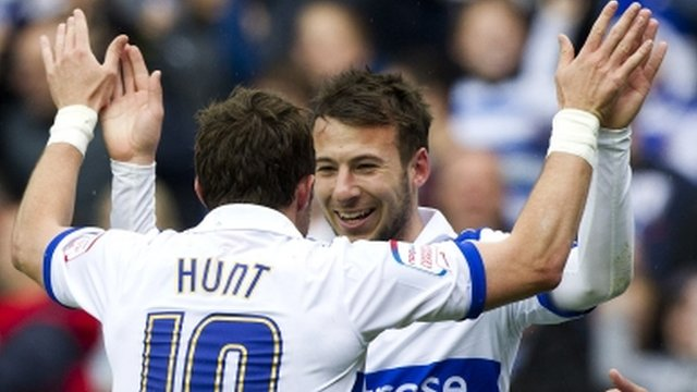 Adam Le Fondre is congratulated by Noel Hunt