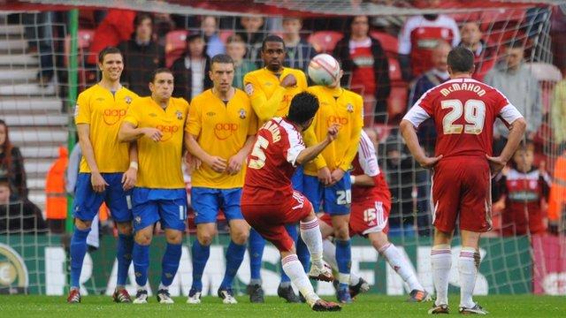 Merouane Zemmama's free-kick
