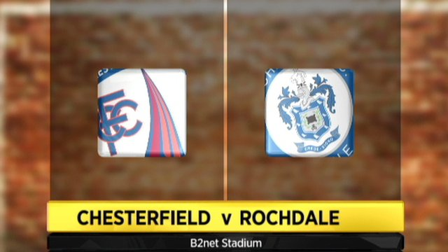 Chesterfield 2-1 Rochdale
