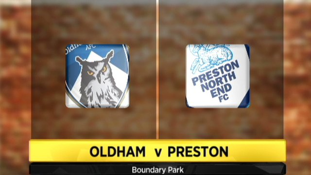 Oldham 1-1 Preston