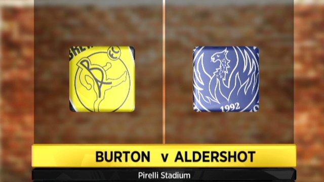 Burton Albion 0-4 Aldershot