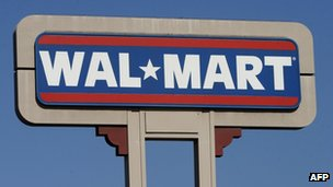A Wal-Mart store sign in California