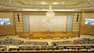 File photo: Union Parliament in Naypyidaw