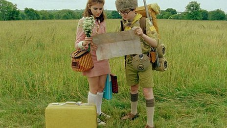 Kara Hayward and Jared Gilman in a scene from Moonrise Kingdom
