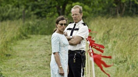 Frances McDormand and Bruce Willis in Moonrise Kingdom