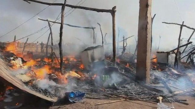 The aftermath of a bomb in South Sudan