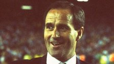 Manager George Graham celebrates Arsenal's title win