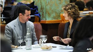 Bashar al-Assad and Asma al-Assad dine in Paris (December 2010)