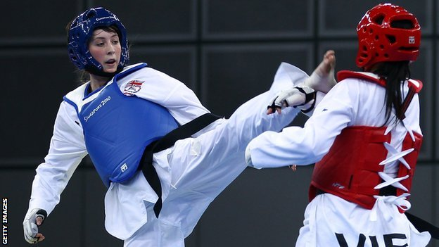 Jade Jones in action