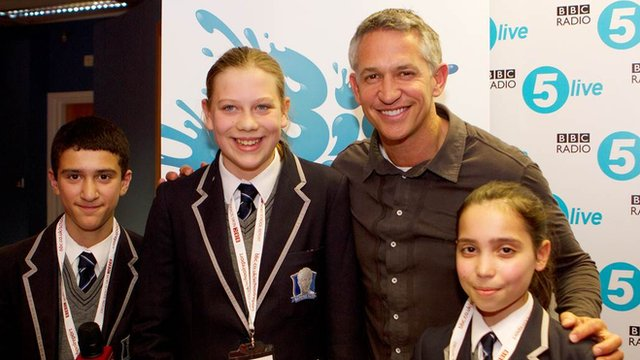 Gary Lineker talks to School Reporters