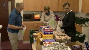 Picture showing foodbank at Darlington