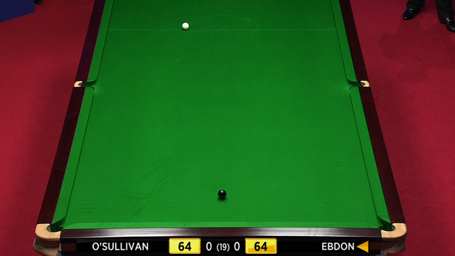 O'Sullivan v Ebdon re-spotted black