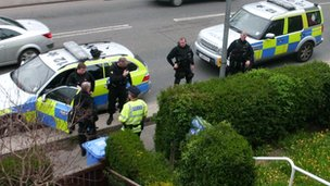 Armed officers in Seamer Road