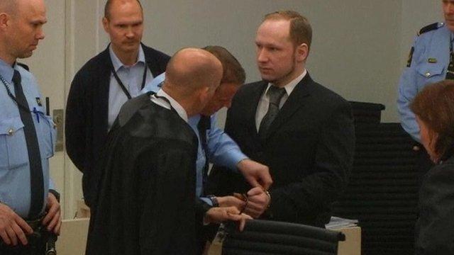Anders Breivik in court